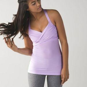 Lululemon Wrap It Up Bra Tank Top Pretty Purple Size 10
